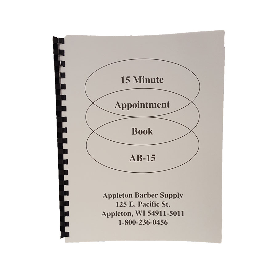 ABS 15-Minute Appointment Book | Appleton Barber Supply
